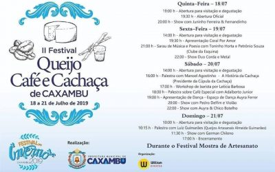 II Festival Queijo, Café e Cachaça de Caxambu – MG